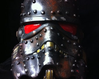 Black Steampunk Stormtrooper Helmet Star Wars Design A Vinyl helmet 8 inch