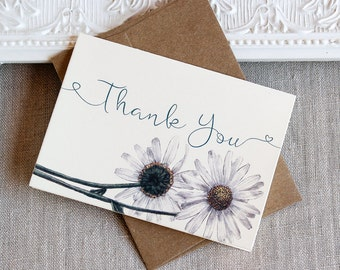 Daisy Thank You Notes set of 20
