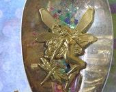 Silvery Light  Fairy Spoon Pendant OOAK