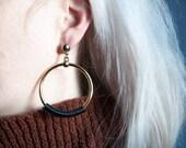 disco stranger doorknocker earrings / hoop earrings / coil earrings / 861a