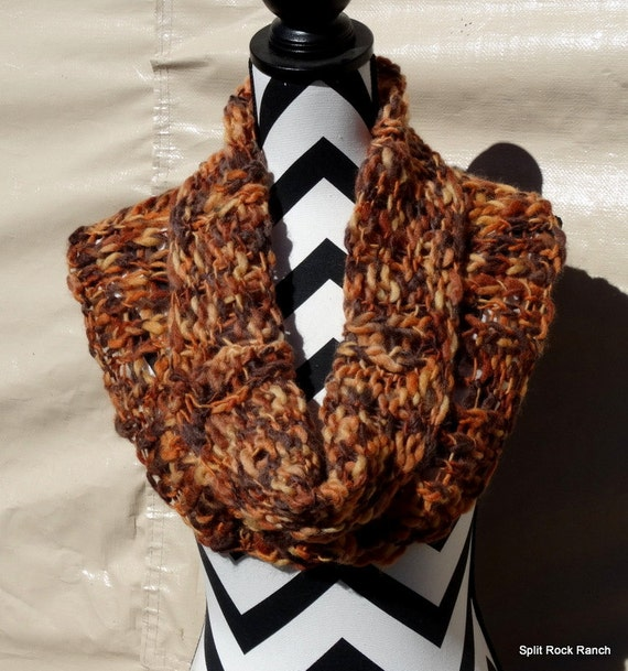 On SALE Fallen Leaves Outlander Inspired Hand Knitted Cowl Capelet 100% Wool Very Soft OOAK Split Rock Ranch Original Design/Creation