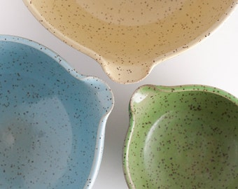 Set of 3 - Nesting Bowls - Speckled Unmatchy - Mixing Bowls - READY TO SHIP