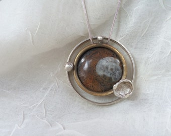 Ancient fossil necklace