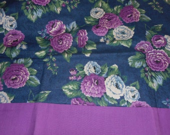 MadieBs Purple and White Flowers  100% Cotton Pillowcase with Name