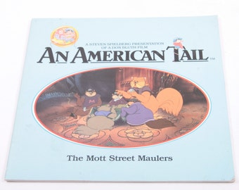 An American Tail: The Mott Street Maulers - Steven Spielberg - Vintage Children's Book ~ The Pink Room ~ 170216