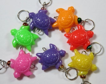 Hand Made Stitch Markers -- Tacky Plastic Turtles
