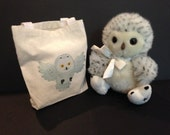 Baby Snowy Owl, with tote, Second Chance, Russ
