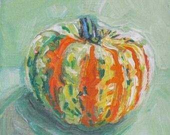 Easy as Pumpkin acrylic still life painting by Polly Jones