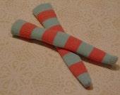 Blythe / DAL Socks - Cotton Candy Stripes