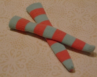 Blythe / DAL Socks - Cotton Candy Stripes - LAST PAIR