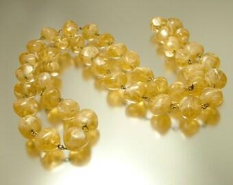 Vintage/ estate 1960s / 70s, marbled plastic bead costume necklace - jewellery jewellery, bargain sale, crafting vintage beads