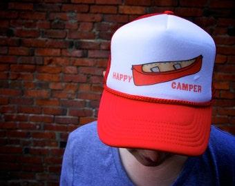 Happy Camper Canoe Trucker Hat