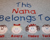 Nana Grandma Mom Mommy Oma Personalized Custom Sweatshirt You Choose Faces Skin Hair Eye Colors Christmas Birthday Mothers's Day Gift
