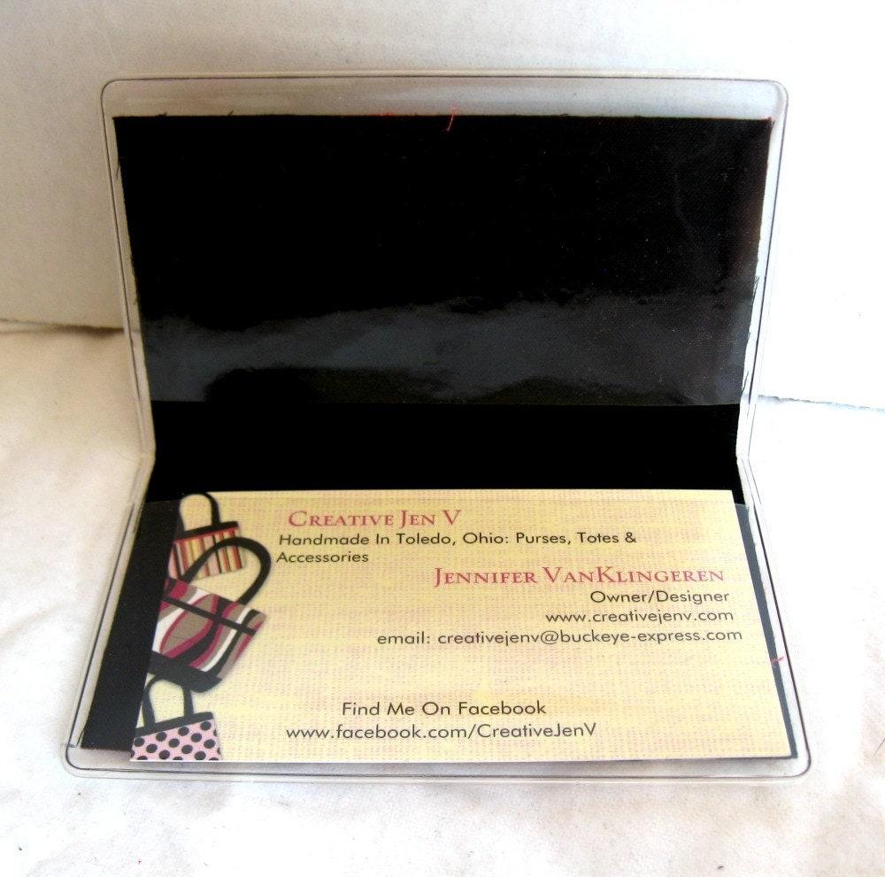 Ice Skates Business Card Holder - Ice Skate Biz Card Case - Vinyl ...