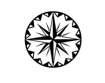 CLEARANCE Compass Rose Rubber Stamp