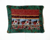 Patchwork Mug Rug, Candle Mat, Christmas Village