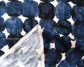 Japanese Fabric Painted Spots - indigo blue - 50cm