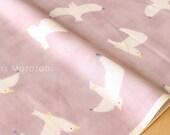 Japanese Fabric Kokka Trefle Birds double gauze - A - 50cm