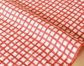 Japanese Fabric Seersucker Linen Lawn - Gingham Check - B - 50cm