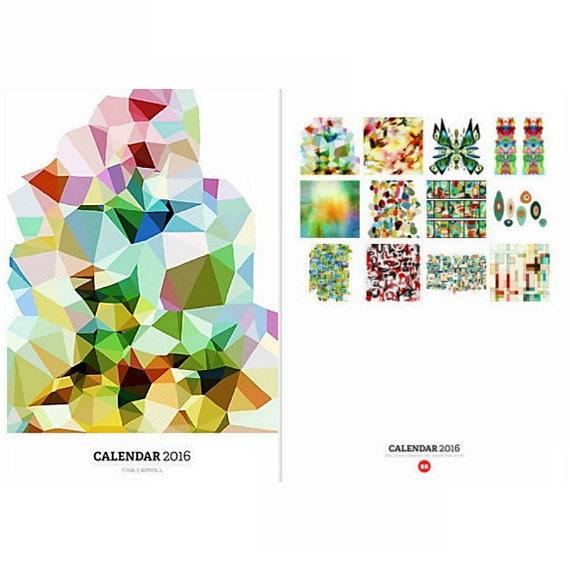 Calendar Abstract Art : Abstract art wall calendar featuring by tinacarroll