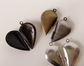 HALF HEART Lockets 20x15mm  - Code 237.644
