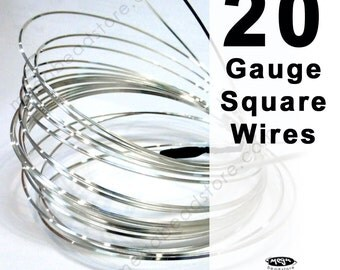 15 feet 1 oz 20 Gauge Square 925 Sterling Silver Wire Half Hard