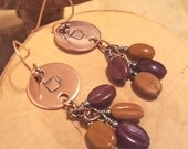 Coffee Lover hand stamped beaded copper earrings cuz Mama LOVES her java