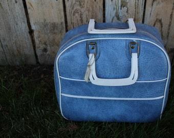 VINTAGE Ebonite brand LEATHER bowling ball bag