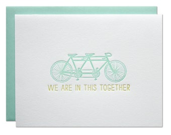 Together Letterpress Card