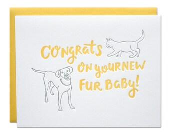 Fur Baby Letterpress Card