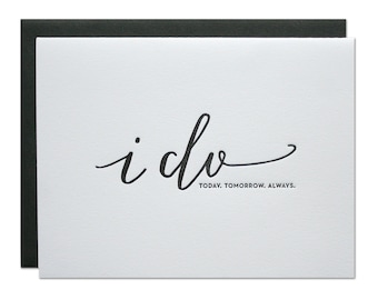 I Do Letterpress Card
