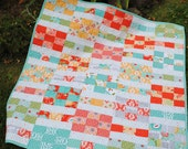PDF Baby Quilt Pattern, Lap Quilt pattern, 2 sizes, Layer Cake and Fat Quarter friendly, Lucky Nines