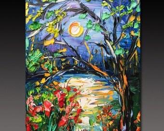 Oil Painting  ART Abstract Contemporary Fine Art Modern Palette Knife B. Sasik