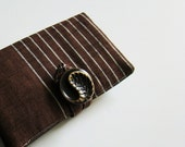 Vintage Tsumugi obi wallet - The song has a good sound and rhythm