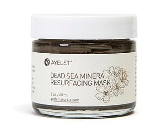 Dead Sea Mineral Resurfacing Mask| Mud Mask| Pore Refining Mask| Exfoliating Mask| Organic Facial Mask| Vegan Facial Mask| Clay Mask|