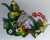 Ooak Figurines hand sculpted  sleeping mices
