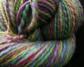 NEW SPRING Handspun Wool Yarn Corriedale 141yds 3.75oz 8-9wpi aspenmoonarts artyarn knitting handdyed