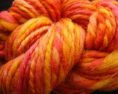 SUNRISE VISTA Handspun Wool Yarn BFL Leicester 78yds 3.25oz 5-6wpi aspenmoonarts knitting art yarn bulky