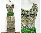 70s hippie boho INDIA long dress (s-m)