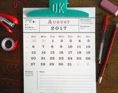 2017 wall calendar with cute ok clip vintage inspired calendar lists moon phases, astrological, birthstones, holidays