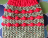 Dog Sweater Vest - Santa Paws  - Size S - Ready to Ship Today
