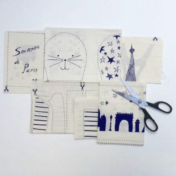 SALE I love Paris Rabbit diy kit