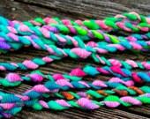 Handspun Art Yarn-Tropical Garland- Signature WildPlied Artisan Yarn