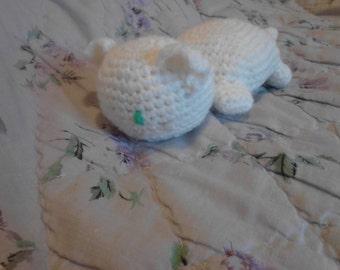 7in White Toddler Friendy Kitten Toy