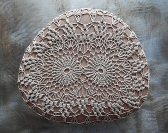 Crocheted Lace Stone, Large, Home Decor, Table Decoration, Hanmdade, Original, Folk Art, Monicaj, Nature