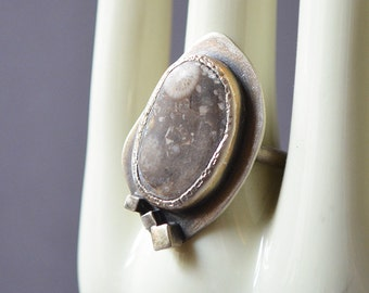 Eye Up North Ring Made With A Michigan Petoskey Stone