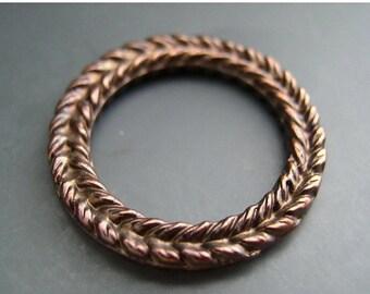 BIG SALE NEW Item 29mm Antiqued Bronze Patina Braided Wreath Pendant Mykonos Beads Greek Beads Naos