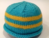 Blue + Yellow Newborn Kni...
