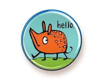 Hello - round magnet