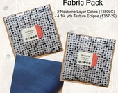Bright Above Me Quilt - Fabric Pack - Nocturne by Janet Clare for Moda